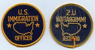 Lot of (10) Defunct U.S. IMMIGRATION SERVICE Federal Police Patch Patches