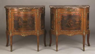 Pair of French Vermis Marten Style Commodes Lot 367