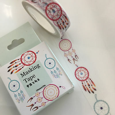 Washi Tape Miss Time Boxed Dreamcatcher 15Mm Wide X 10Mtr Roll Scrap Craft
