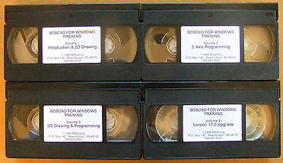 """""""BobCAD for Windows Training"""" Earliest VHS Tapes"""