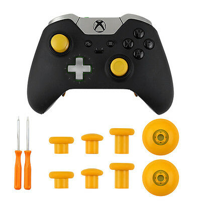6 PCS Replacement Analog Thumbstick Mod Kit for Xbox One S Elite PS4 Controller