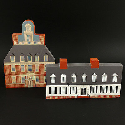 Cats Meow Village Williamsburg Series Raleigh Tavern Governors Palace Lot of 2