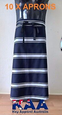 10 Butchers Aprons Waist/Lap Apron Navy/white 85x80cm *MADE IN KINGAROY QLD*