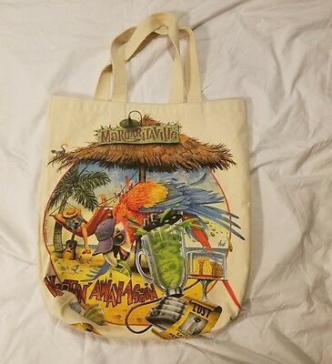 "Vintage 1996 Jimmy Buffet Margaritaville Canvas Fabric Bag 17"" x 18"" Parrot Head"