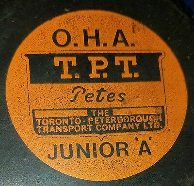 OHA TPT rarest  petes TORONTO PETERBOROUGH puck 1970-71 VINTAGE