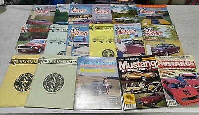 Mustang Monthly Magazine.  Lot of 17.  From Dec.1983-oct.1984