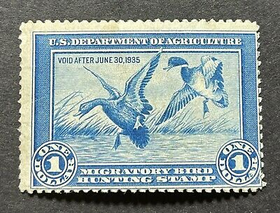 WTDstamps - #RW1 1934 - US Federal Duck Stamp - Mint OG NH *