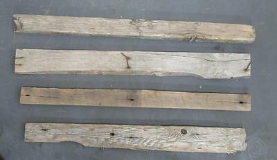 "Lot of 4 large Flat Driftwood Pieces For Signs 2.5""-3.5"" x 28""-32"" SBL4-2"