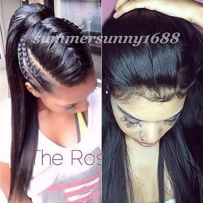 Brazilian Real Natural Human Hair Lace Front Wig Full Lace Wigs with Baby Hair #