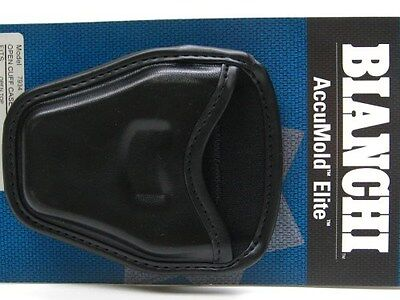 BIANCHI Black 7934 ACCUMOLD ELITE Open Top HANDCUFF Cuff Case Pouch!  22965