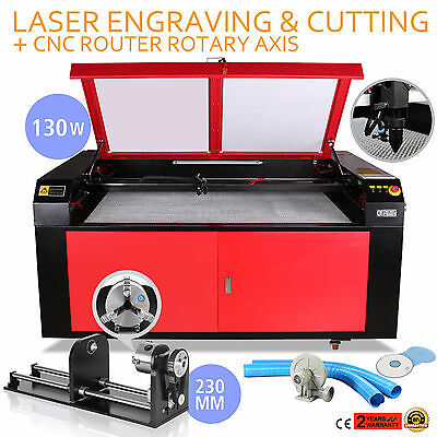130w Co2 Laser Engraving Cutting Machine Cnc Rotary Axis Engraver Tool Great Kit