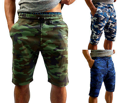 Mens Camo Cotton Gym Shorts Bodybuilding Training Running Sport Fashion Army Mma