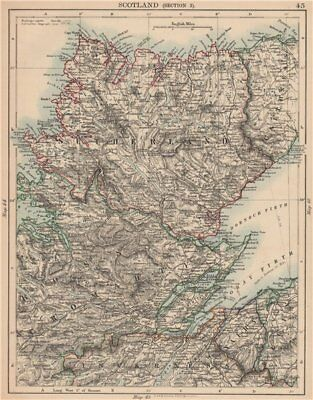SCOTTISH HIGHLANDS. Sutherland Ross Cromarty Caithness Moray Firth 1906 map