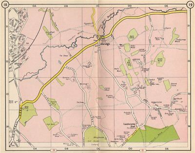 NE LONDON. Abridge Lambourne End Loughton River Roding Debden 1953 old map