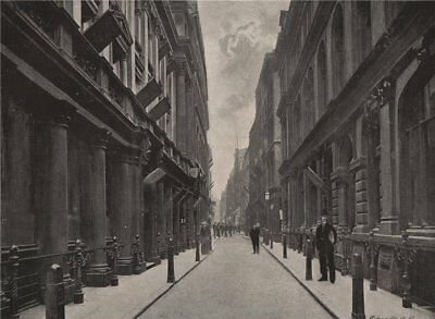 Paternoster Row. London 1896 old antique vintage print picture