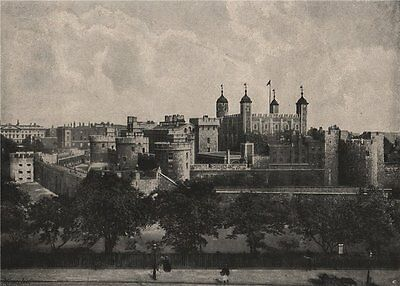The Tower of London. London 1896 old antique vintage print picture