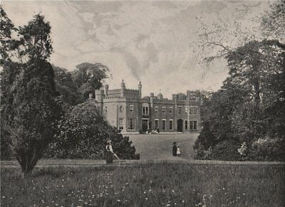 Nonsuch Park, near Cheam. London 1896 old antique vintage print picture