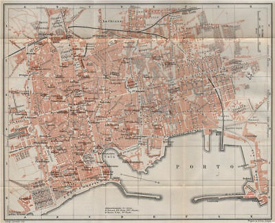 PALERMO antique town city plan piano urbanistico. Italy mappa 1911 old