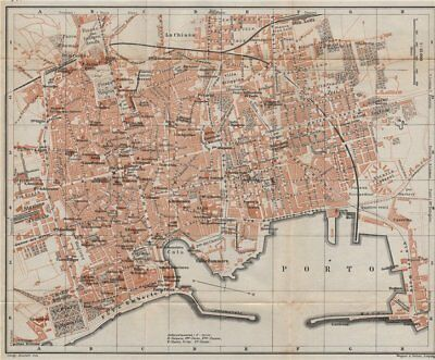 PALERMO antique town city plan piano urbanistico. Italy mappa 1912 old