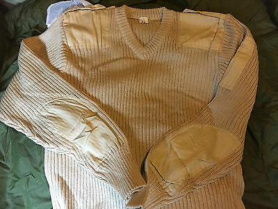 NEW  Army Surplus desert Pullover Wool Jumper Commando large
