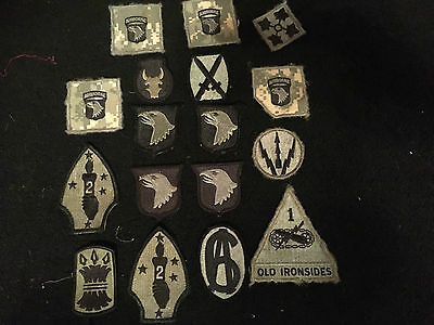 American army US Marines  TRF, mixed badges,velcro  joblot huge collection