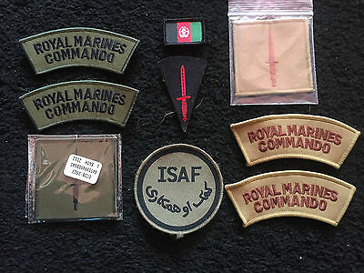 British Royal Marines Afghanistan patches,plates ,TRF, badges joblot collection