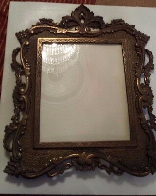 Antique/Vintage Victorian Cast Iron Easel Back Picture Photo/Mirror Frame