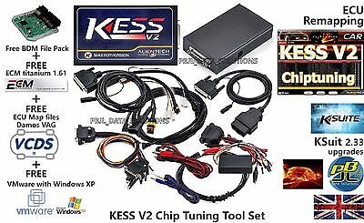 ECU PROGRAMMING RE-MAPPING Tool KESS V2 KSuit V2 33 ECM Titanium OBD2  Bootloader