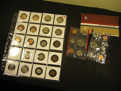 20~Mixed Coins With 1945 Silver And 1984 P + D Mint Set