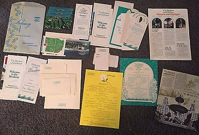 Lot of 35 Vintage 1974 items - THE BREAKERS HOTEL RESORT - PALM BEACH FLORIDA
