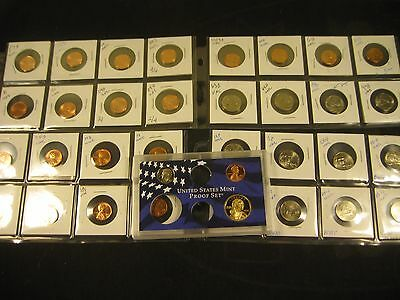 32 Unc Coins With  3 Proof Coin Set 2004-S  Sacagawea Dollar, Dime And Penny