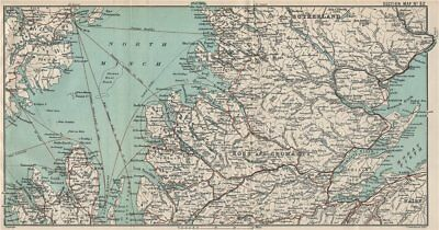 SCOTTISH HIGHLANDS & ISLANDS. Ross & Cromarty Sutherland North Minch 1908 map