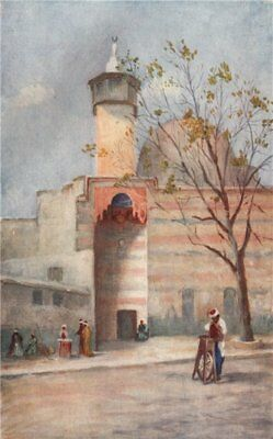 'Mosque of the Holy Flag, Damascus' by Margaret Thomas. Syria 1908 old print