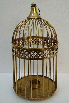 LARGE - Vintage Style Candle Stand - Cage Type - BRASS - RARE