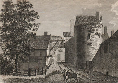 CANTERBURY. 'Riding Gate'. GOSTLING 1825 old antique vintage print picture