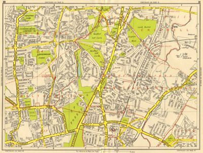 WOODFORD GREEN CHINGFORD Buckhurst Hill Walthamstow. GEOGRAPHERS' A-Z 1956 map
