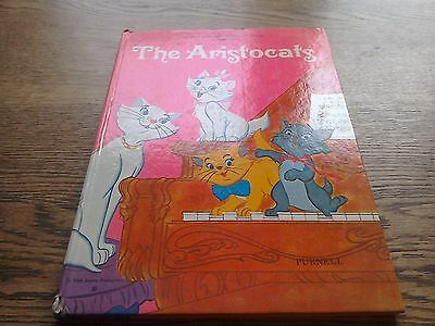 WALT DISNEY PRESENTS THE ARISTOCATS - PURNELL 1971 1st EDITION HB BOOK - GOOD