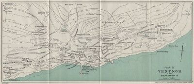 VENTNOR AND BONCHURCH vintage town/city plan. Isle of Wight. WARD LOCK 1932 map