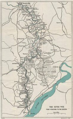 RIVER WYE VALLEY. Hereford-Ross-Monmouth-Chepstow-Severn. WARD LOCK 1927 map