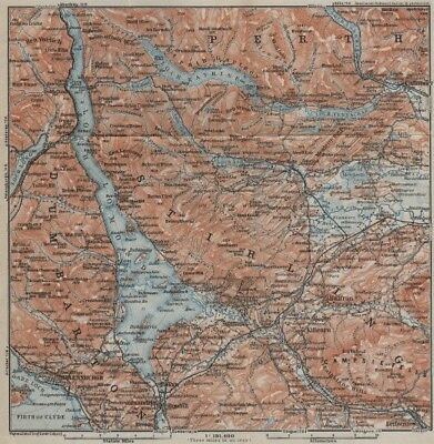 LOCH LOMOND & THE TROSSACHS. Helensburgh Balloch Drymen. Scotland 1927 old map