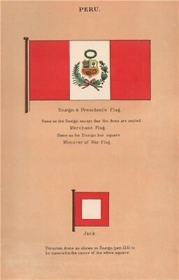 DOMINICAN REPUBLIC FLAGS Pendant Admiral/'s Flag Merchant 1916 Ensign Arms