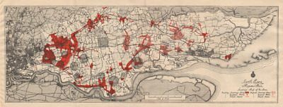 SOUTH ESSEX REGIONAL PLAN. Sewerage map. Treatment works existing/proposed 1931