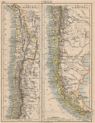 CHILE. Patagonia Cape Horn Tierra del Fuego. Steamship routes. JOHNSTON 1895 map