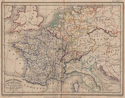 'Europe Centrale' by Meissas & Michelot 1861 old antique map plan chart