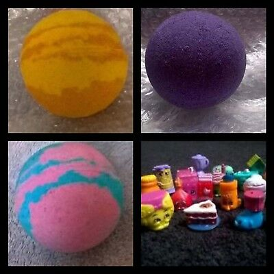 Surprise Shopkins Bath Bombs (each bath bomb contains a small toy)