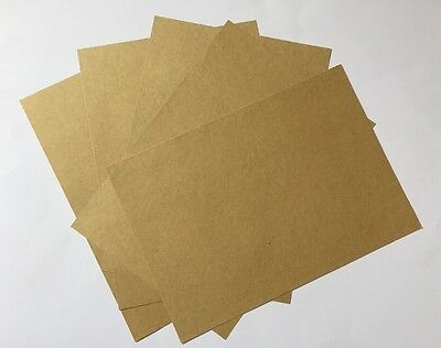 SELF ADHESIVE KRAFT PAPER-5xA4 SHEETS-BROWN STICKERS-BLANK/LABELS-PRINT-STICKY