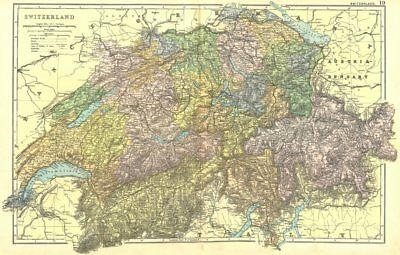 SWITZERLAND.  1905 old antique vintage map plan chart