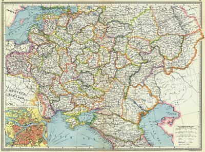 RUSSIA. Central & south; map of St Petersburg 1907 old antique plan chart
