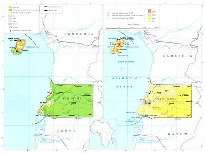 EQUATORIAL GUINEA.Economy industry trade farming agriculture resources 1973 map