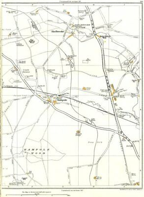 YORKS.Ingbirchworth,Thurlstone,Upper Denby,Penistone,Millhouse Green 1935 map